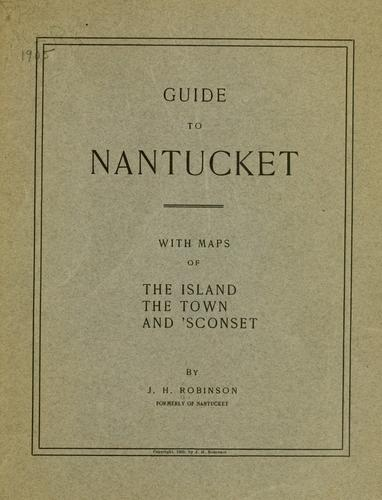 Guide to Nantucket.