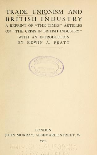 Trade unionism and British industry