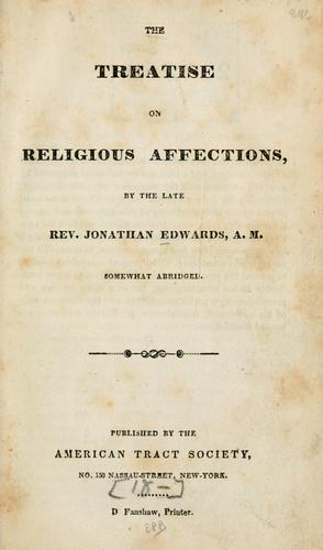 Download The treatise on religious affections