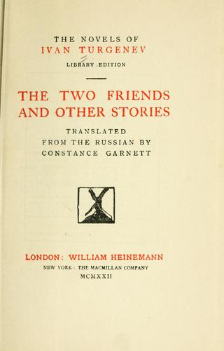 The two friends, and other stories.