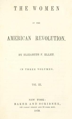 Download The women of the American revolution.
