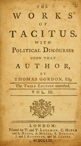 Download The works of Tacitus