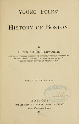 Young folks' history of Boston.