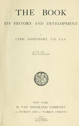The book, its history and development.
