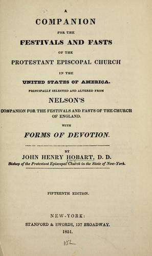 A companion for the festivals and fasts of the Protestant Episcopal church in the United States of America