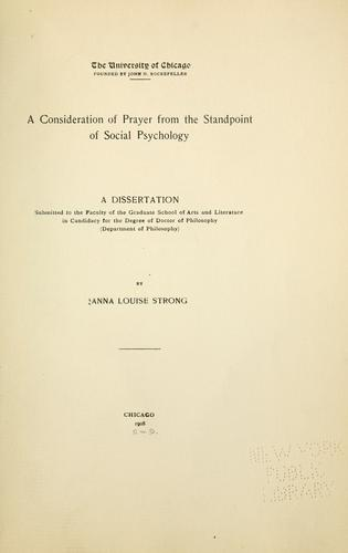 Download A consideration of prayer from the standpoint of social psychology