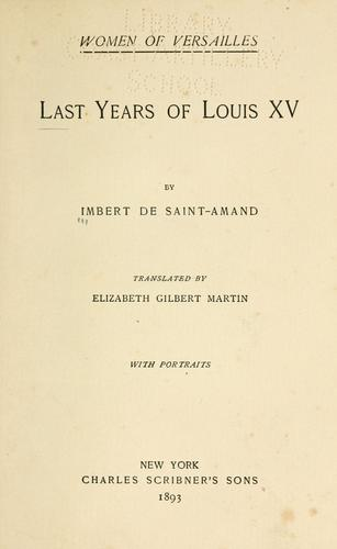 Download The last years of Louis XV
