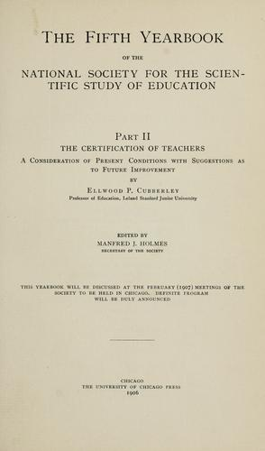 Download The certification of teachers