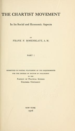 Download The Chartist Movement in its social and economic aspects