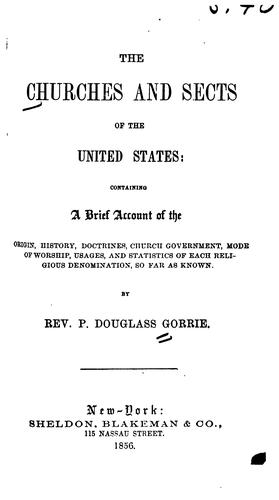 Download The churches and sects of the United States