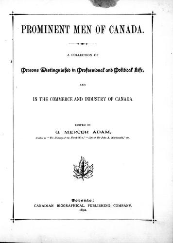 Download Prominent men of Canada