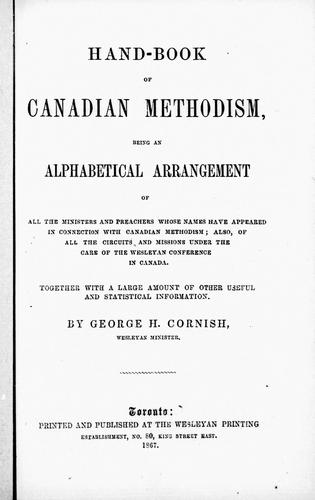 Download Handbook of Canadian Methodism