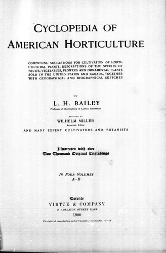Download Cyclopedia of American horticulture