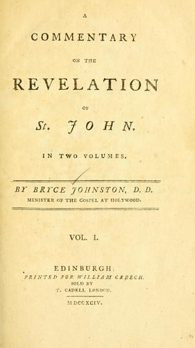 A commentary on the Revelation of St. John.