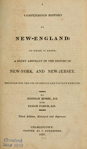 Download A compendious history of New-England