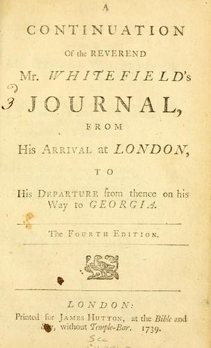 Download A continuation of the Reverend Mr. Whitefield's journal