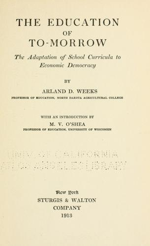 The education of to-morrow