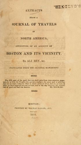 Download Extracts from a journal of travels in North America