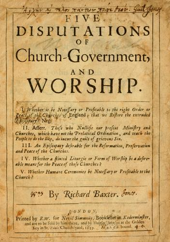 Download Five disputations of church-government, and worship.