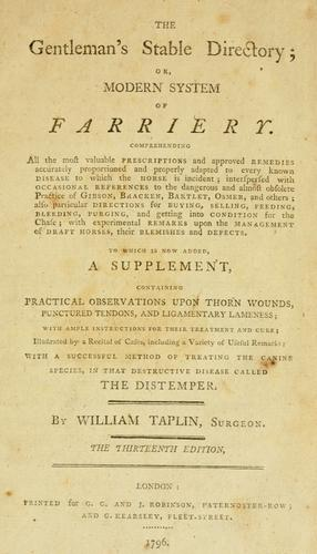 Download The gentleman's stable directory, or, Modern system of farriery