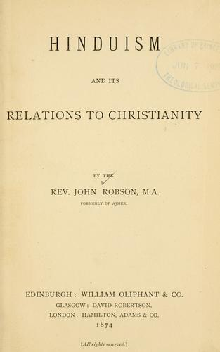 Download Hinduism and its relations to Christianity.