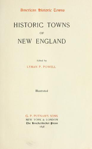 Historic towns of New England