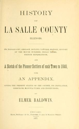 History of La Salle County, Illinois.