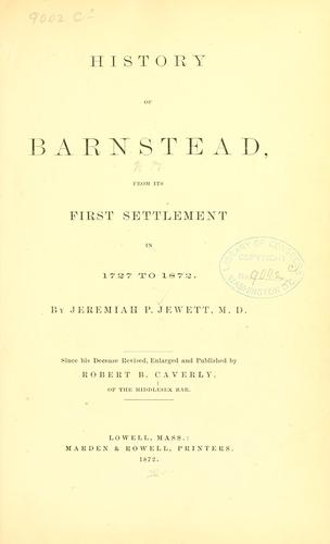 History of Barnstead N.H. from its first settlement in 1727 to 1872.