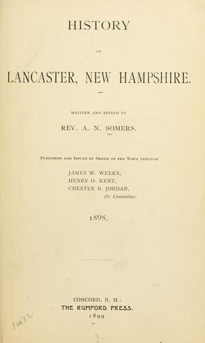 History of Lancaster, New Hampshire