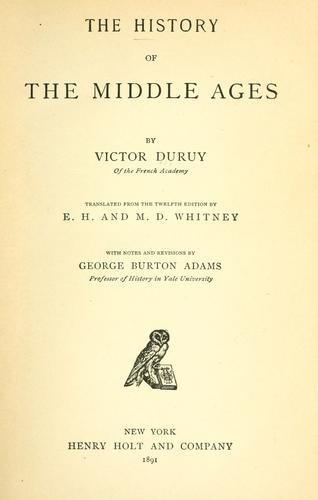 Download The history of the middle ages
