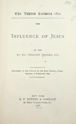 The influence of Jesus …