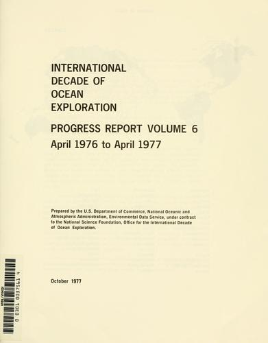 International decade of ocean exploration