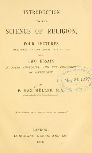Download Introduction to the science of religion