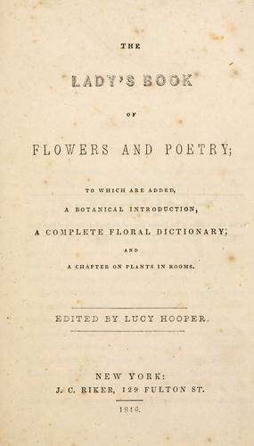 Download The lady's book of flowers and poetry