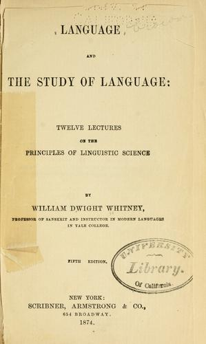 Language, and the study of language.