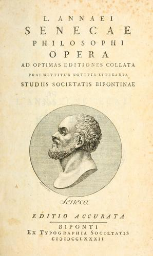 Opera quae supersunt by Seneca the Younger
