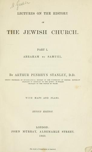 Download Lectures on the history of the Jewish church