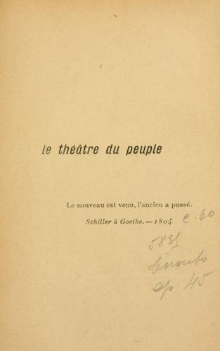 Download Le théâtre du peuple.