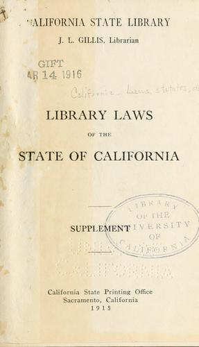 Library laws of the state of California.