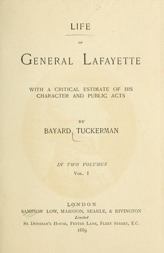 Download Life of General Lafayette