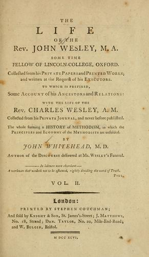 Download The life of the Rev. John Wesley …