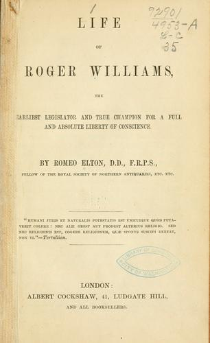 Download Life of Roger Williams