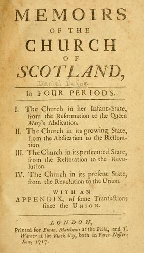Download Memoirs of the Church of Scotland