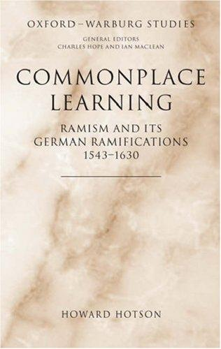 Commonplace Learning by Howard Hotson