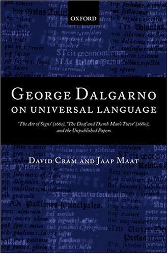 George Dalgarno on universal language by George Dalgarno