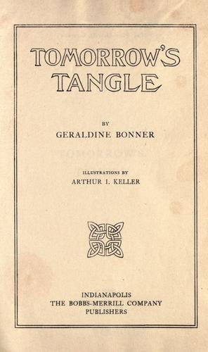 Tomorrow's tangle by Bonner, Geraldine