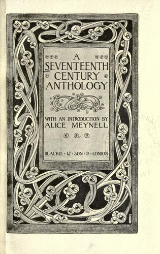 Seventeenth century anthology by