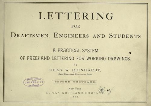 Lettering for draftsmen, engineers and students.