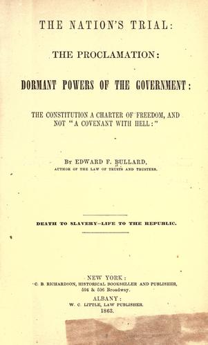 The nation's trial