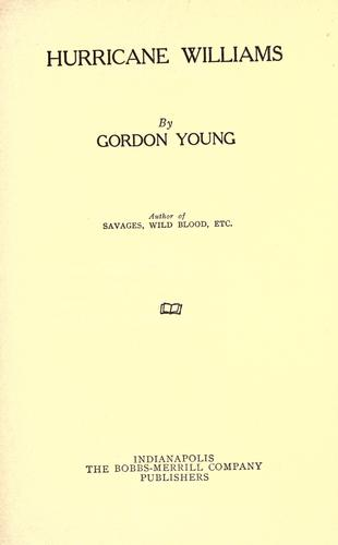 Hurricane Williams by Young, Gordon